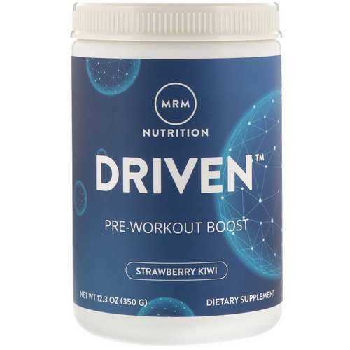 MRM, Driven, Pre-Workout Boost, Strawberry-Kiwi, 12.3 oz (350 g) Review