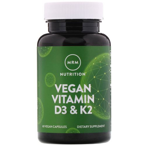 MRM, Vegan Vitamin D3 & K2, 60 Vegan Capsules Review