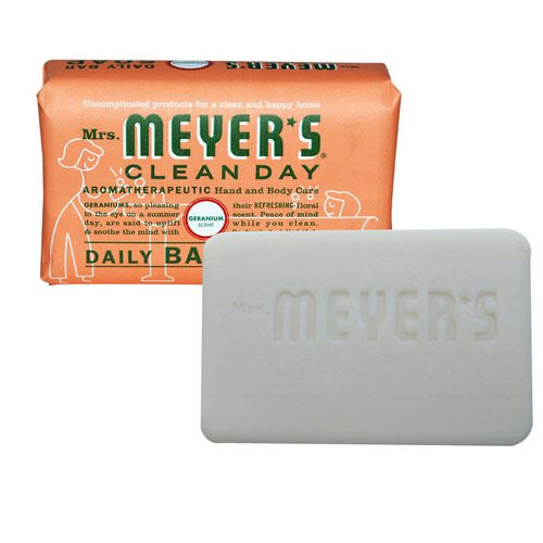 Mrs. Meyers Clean Day, Daily Bar Soap, Geranium Scent, 5.3 oz (150 g) Review
