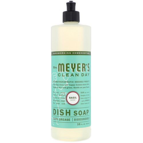Mrs. Meyers Clean Day, Dish Soap, Basil Scent, 16 fl oz (473 ml) Review