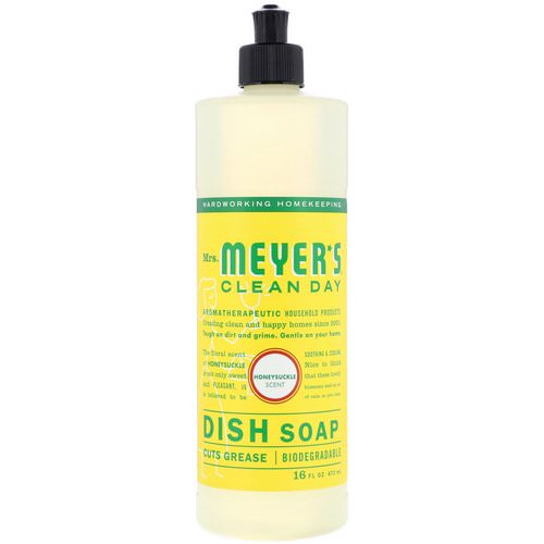 Mrs. Meyers Clean Day, Dish Soap, Honeysuckle Scent, 16 fl oz (473 ml) Review