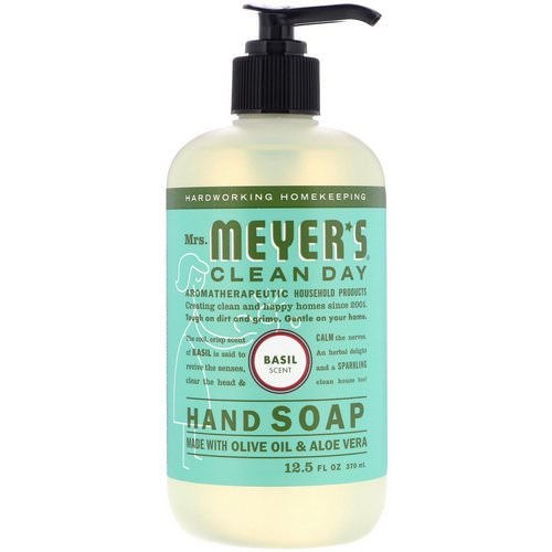 Mrs. Meyers Clean Day, Hand Soap, Basil Scent, 12.5 fl oz (370 ml) Review