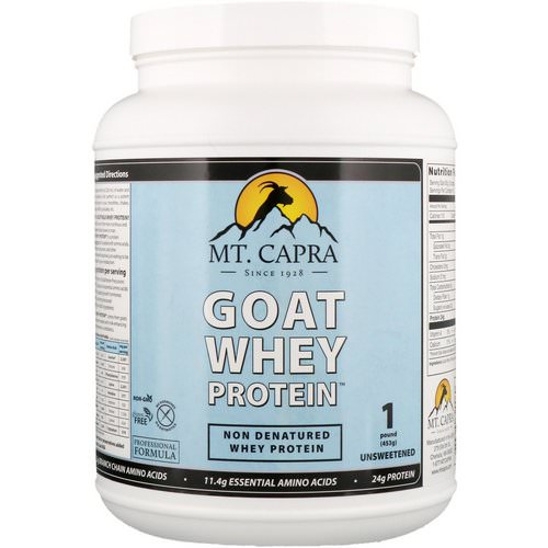 Mt. Capra, Goat Whey Protein, Unsweetened, 1 Pound (453 g) Review