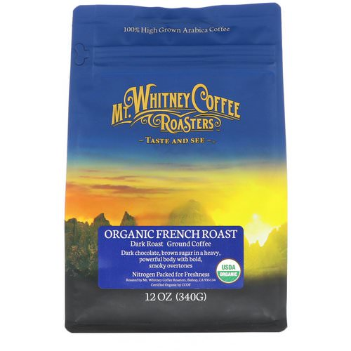 Mt. Whitney Coffee Roasters, Organic French Roast, Dark Roast, Ground Coffee, 12 oz (340 g) Review