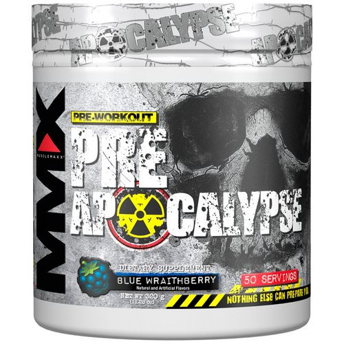 MuscleMaxx, PRE APOCALYPSE, Pre-Workout, Arginine + Taurine + Creatine + Beta-Alanine, Blue Wraithberry, 11.28 oz (320 g) Review
