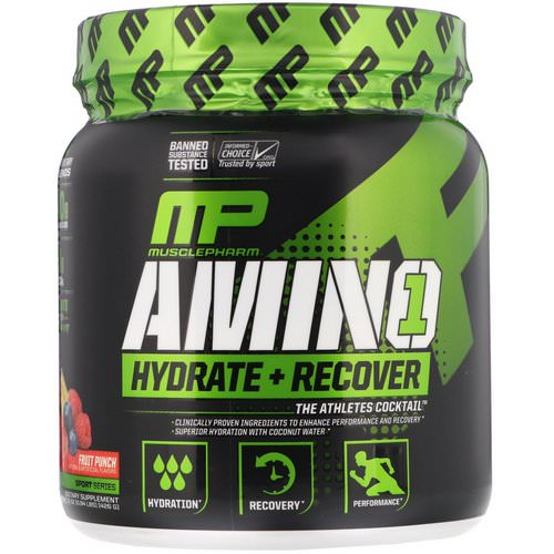 MusclePharm, Amino 1, Hydrate + Recover, Fruit Punch, .15 oz (426 g) Review