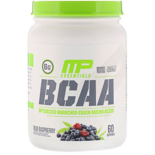 MusclePharm, BCAA Essentials, Blue Raspberry, 0.99 lb (450 g) Review
