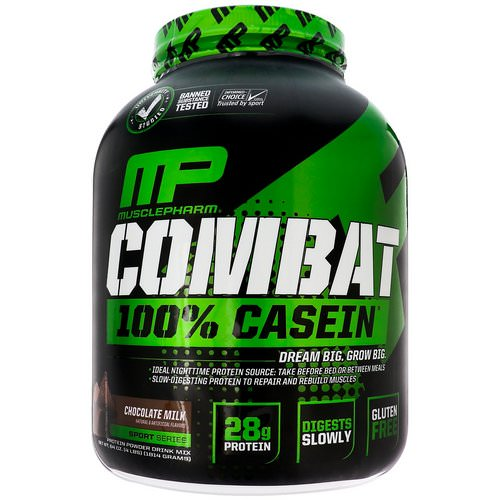MusclePharm, Combat, 100% Casein, Chocolate Milk, 4 lbs (1814 g) Review