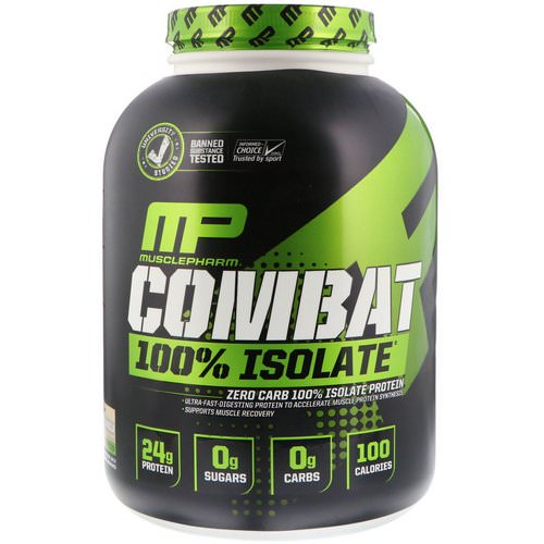 MusclePharm, Combat 100% Isolate Protein, Vanilla, 5 lb (2268 g) Review