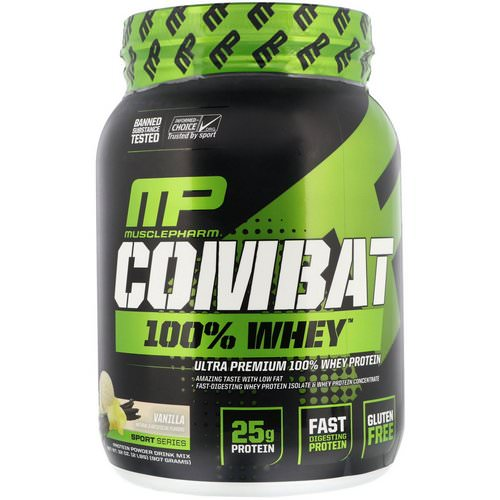 MusclePharm, Combat 100% Whey Protein, Vanilla, 2 lbs (907 g) Review