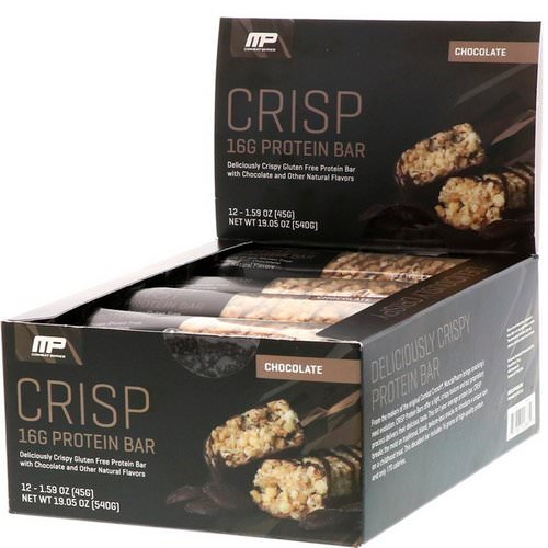 MusclePharm, Combat Crisp Protein Bars, Chocolate, 12 Bars, 1.59 oz (45 g) Each Review