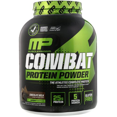 MusclePharm, Combat Protein Powder, Chocolate Milk, 4 lbs (1814 g) Review