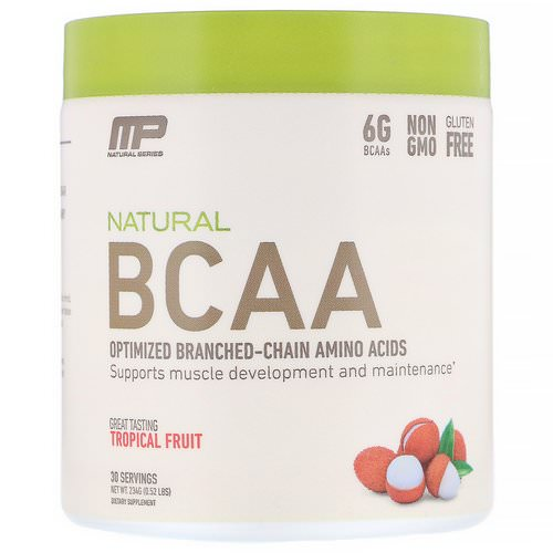 MusclePharm, Natural BCAA, Tropical Fruit, 0.52 lbs (234 g) Review