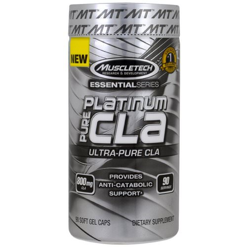 Muscletech, Essential Series, Platinum Pure CLA, 800 mg, 90 Soft Gel Caps Review