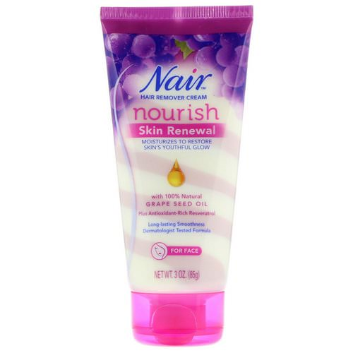Nair, Hair Remover Cream, Nourish, Skin Renewal, For Face, 3 oz (85 g) Review