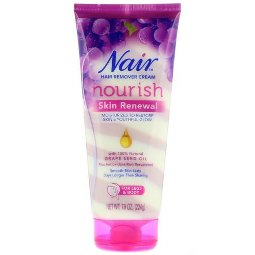 Nair, Hair Remover Cream, Nourish, Skin Renewal, For Legs & Body, 7.9 oz (224 g) Review