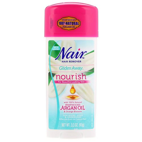 Nair, Hair Remover, Glides Away, Nourish, For Bikini, Arms & Underarms, 3.3 oz (93 g) Review
