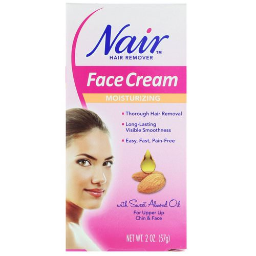 Nair, Hair Remover, Moisturizing Face Cream, For Upper Lip, Chin and Face, 2 oz (57 g) Review