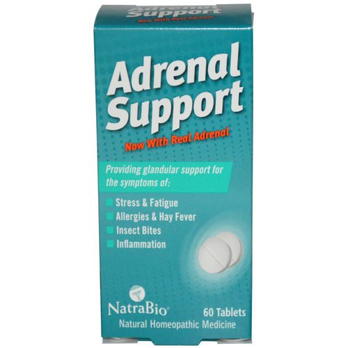 NatraBio, Adrenal Support, 60 Tablets Review