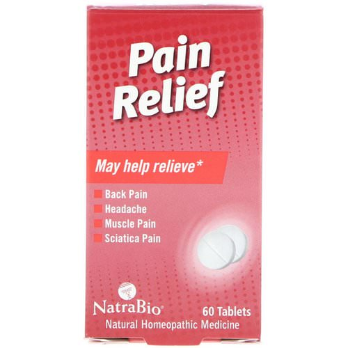 NatraBio, Pain Relief, 60 Tablets Review
