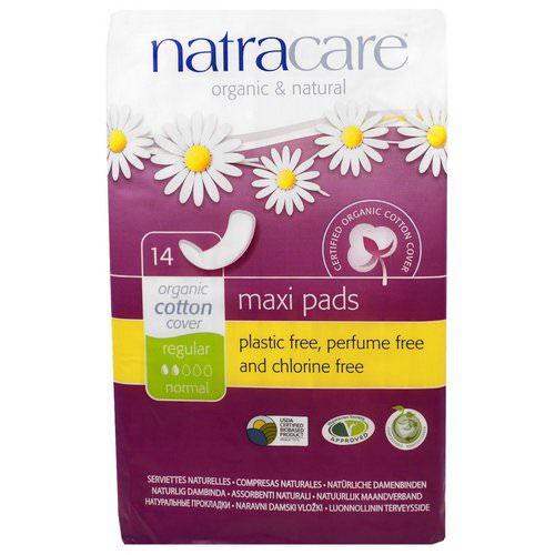 Natracare, Maxi Pads, Regular/Normal, 14 Regular Pads Review