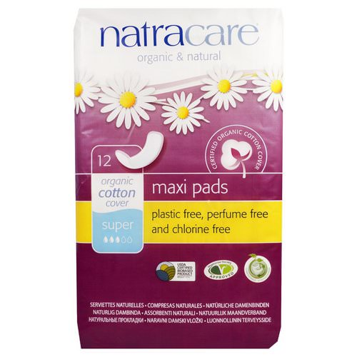 Natracare, Organic & Natural Maxi Pads, 12 Super Pads Review