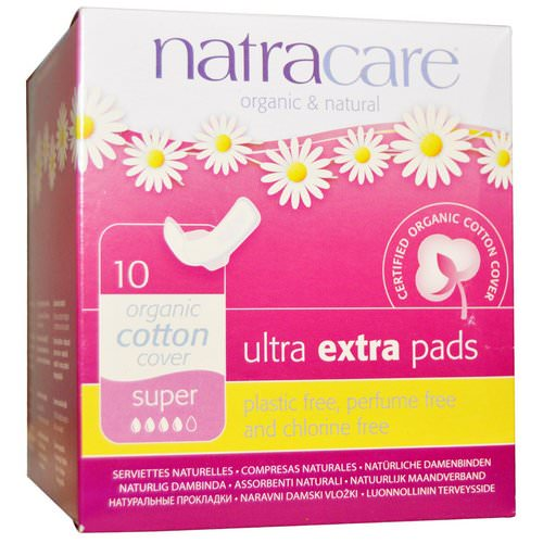 Natracare, Organic & Natural Ultra Extra Pads, Super, 10 Pads Review
