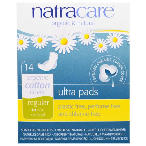 Natracare, Ultra Pads, Organic Cotton Cover, Regular, Normal, 14 Pads Review