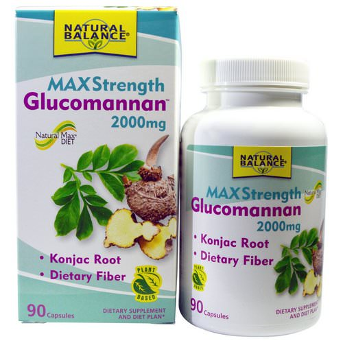 Natural Balance, Glucomannan, Maximum Strength, 2000 mg, 90 Capsules Review
