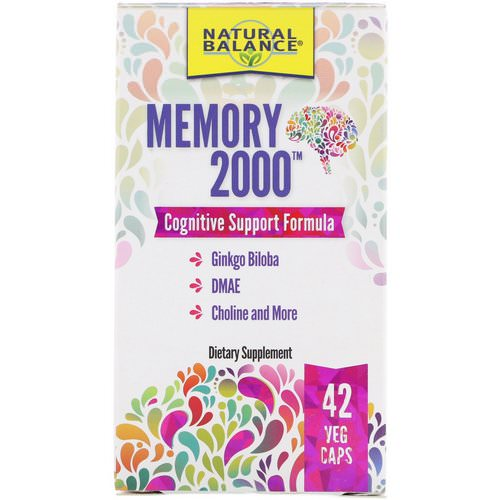 Natural Balance, Memory 2000, 42 Veg Caps Review