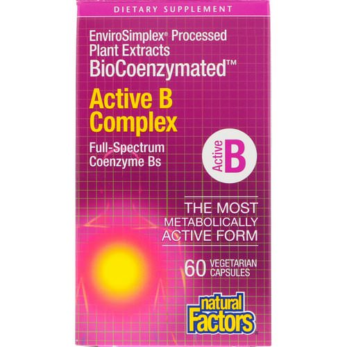 Natural Factors, BioCoenzymated, Active B Complex, 60 Vegetarian Capsules Review