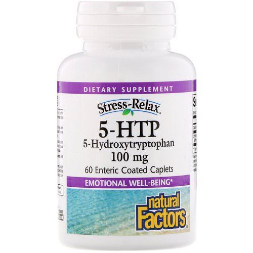 Natural Factors, Stress-Relax, 5-HTP, 100 mg, 60 Enteric Coated Caplets Review