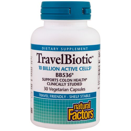 Natural Factors, TravelBiotic, BB536, 10 Billion Acitve Cells, 30 Vegetarian Capsules Review