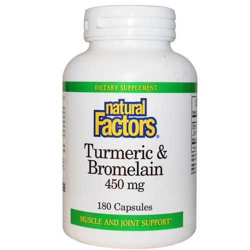 Natural Factors, Turmeric & Bromelain, 450 mg, 180 Capsules Review