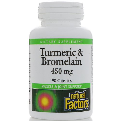 Natural Factors, Turmeric & Bromelain, 450 mg, 90 Capsules Review
