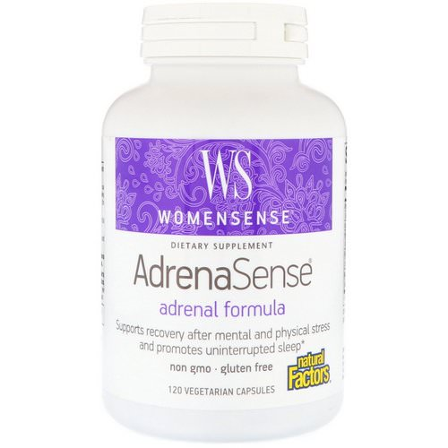 Natural Factors, WomenSense, AdrenaSense, Adrenal Formula, 120 Vegetarian Capsules Review