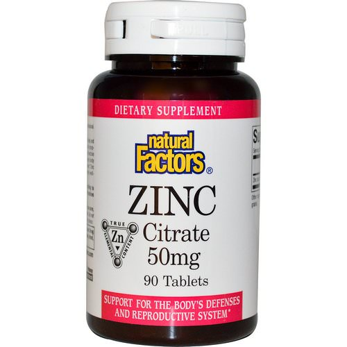 Natural Factors, Zinc Citrate, 50 mg, 90 Tablets Review