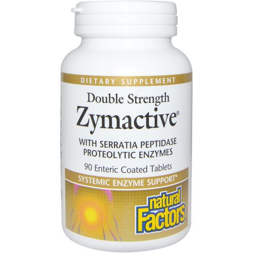 Natural Factors, Zymactive, Double Strength, 90 Enteric Coated Tablets Review