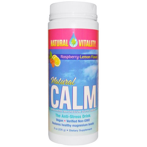 Natural Vitality, Natural Calm, The Anti-Stress Drink, Organic Raspberry-Lemon Flavor, 8 oz (226 g) Review
