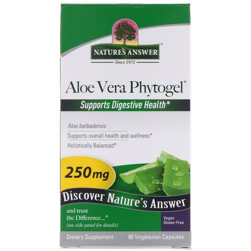 Nature's Answer, Aloe Vera Phytogel, 250 mg, 90 Vegetarian Capsules Review