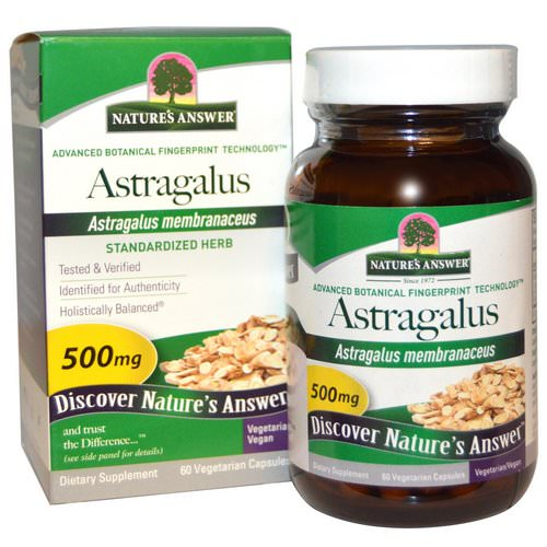 Nature's Answer, Astragalus, 500 mg, 60 Vegetarian Capsules Review