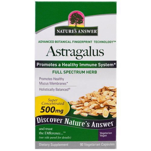 Nature's Answer, Astragalus, 500 mg, 90 Vegetarian Capsules Review