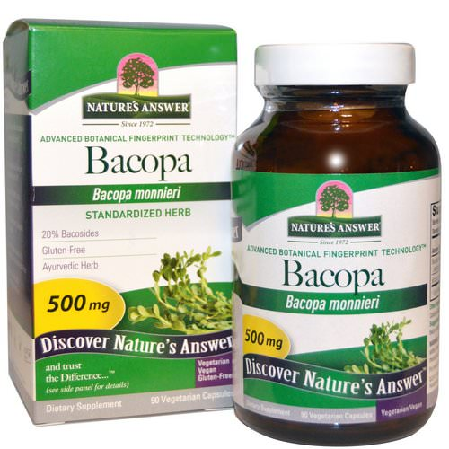 Nature's Answer, Bacopa, 500 mg, 90 Vegetarian Capsules Review