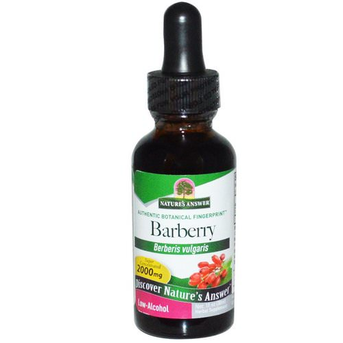 Nature's Answer, Barberry, Low-Alcohol, 1 fl oz (30 ml) Review