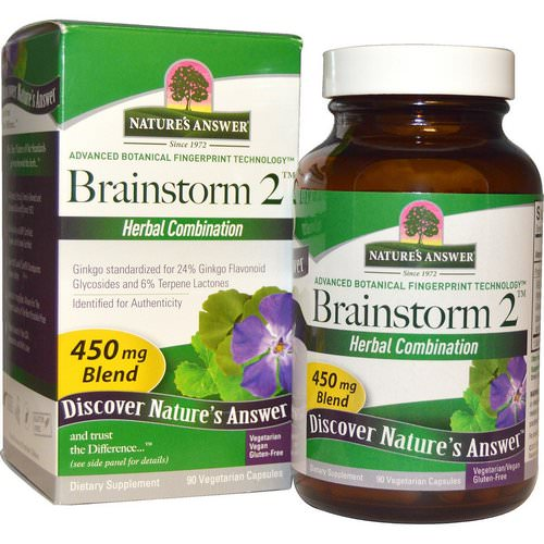 Nature's Answer, Brainstorm 2, Herbal Combination, 450 mg, 90 Vegetarian Capsules Review