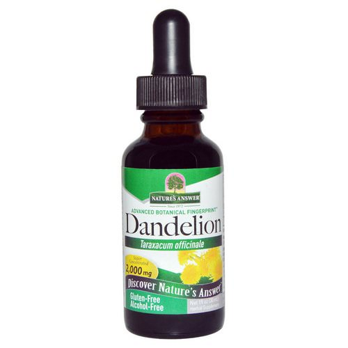 Nature's Answer, Dandelion, Alcohol Free, 2,000 mg, 1 fl oz (30 ml) Review