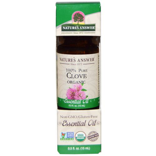 Nature's Answer, Organic Essential Oil, 100% Pure Clove, 0.5 fl oz (15 ml) Review