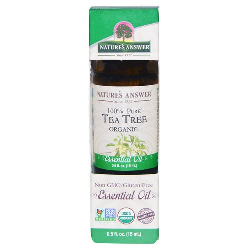 Nature's Answer, Organic Essential Oil, 100% Pure Tea Tree, 0.5 fl oz (15 ml) Review