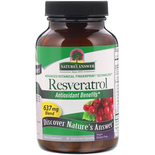 Nature's Answer, Resveratrol, 637 mg, 60 Vegetarian Capsules Review