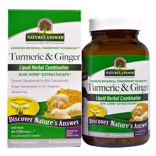 Nature's Answer, Turmeric & Ginger, 90 Vegetarian Capsules Review